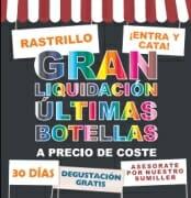 Rastrillo con vinos de Santa Cecilia en Madrid
