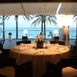 El restaurante dispone de una ubicación privilegiada, con vistas al mar