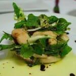 Ensalada de judiones y sardinillas con redución de higos y vinagreta de modena