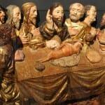 Retablo del Museo de Arte Sacro donde ya aparecían el Lechazo, el pan de torta y el vino