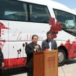 Ángel Parreño, Presidente de Caminos del Vino La Mancha, presentó el Bus del vino de la Mancha