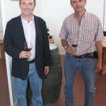 Sebastián y José  Bro Valero, durante la V Feria Vitivinícola del Ayuntamiento de Villarrobledo