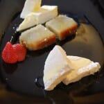 Helado de aceite de Oliva, quimdim de coco brasileño y queso de cabra