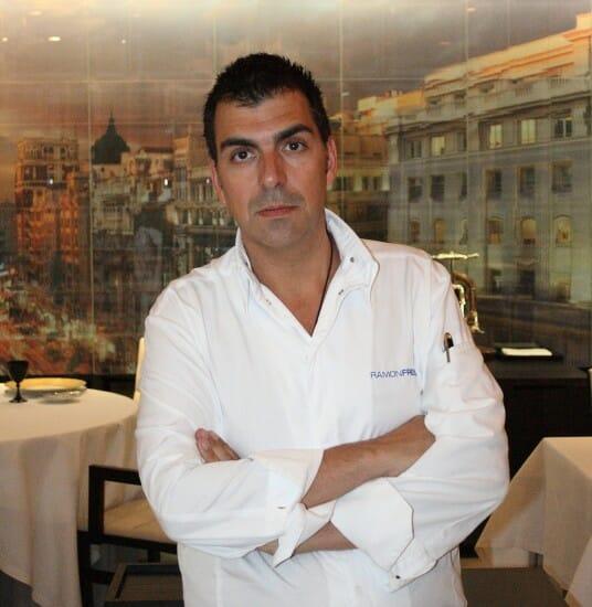 Ramón Freixa, en la sala de su restaurante