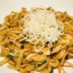 Mien de pollo con Shitaki