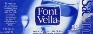Etiqueta de Font Vella