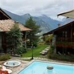 El Hotel Mont Blanc es el unico cinco estrellas del valle