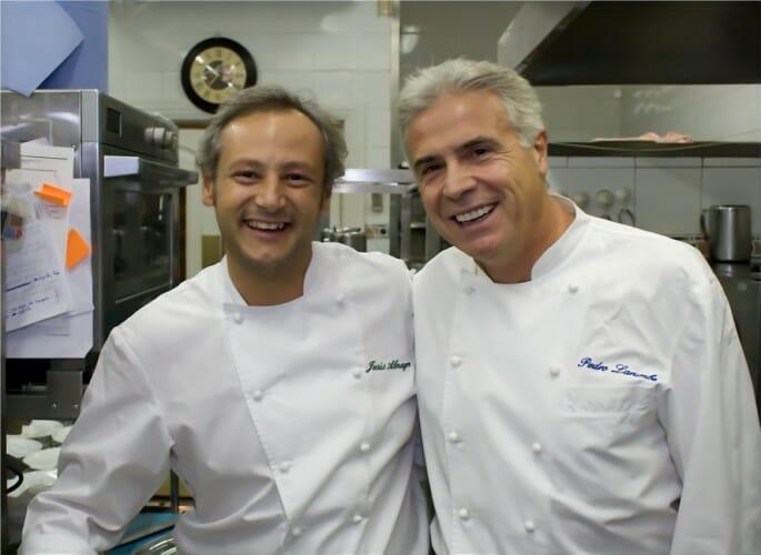 Pedro Larumbe y Jesús Almagro, complicidad en los fogones