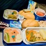 Menú de cena que ofrece Tunisair