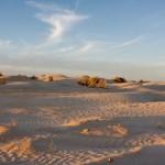 Impresionante atardecer en el desierto de Tozeur