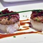 Sushi de mini burguer