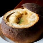 Sopa de marisco en pan del Restaurante Casa da Palha