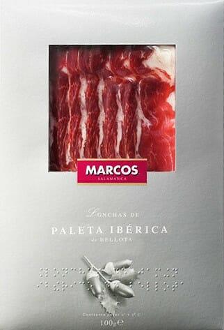 Envase de Paleta Ibérica que incluye el etiquetado en Braille