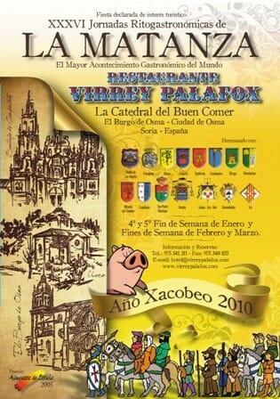 Cartel de la edición de este año de la Matanza del Restaurante Virrey Palafox