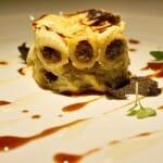 Macarrones Brunoise de foie, trufa y apio