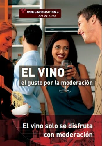 Cartel publicitario de Wine in Moderation