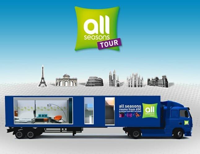 All Seasons Tour, un hotel móvil que recorrerá Europa durante 40 días
