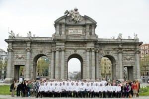 Pasteleros en la Puerta de Alcalá