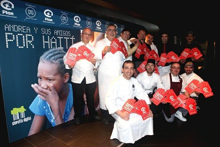 """Imagen de los chefs participantes en """"Andrea y sus amigos por Haití"""""""