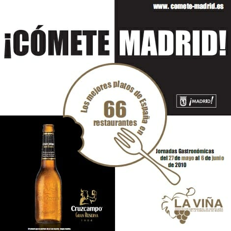 En ¡Cómete Madrid! 66 restaurantes de la capital nos acercan con sus menús a la gastronomía de distintas regiones españolas
