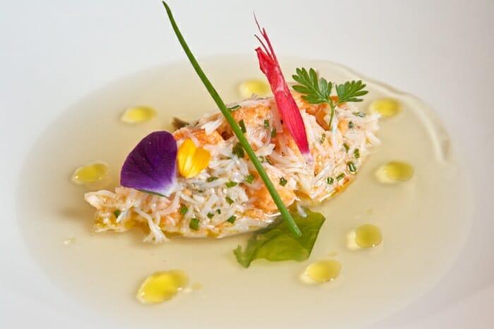 Crustáceos con agua de mar
