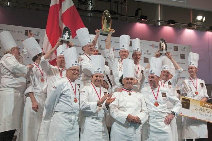Foto de familia de los ganadores del Bocuse d'Or Europe 2010
