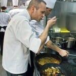Rodrigo de la Calle, en la cocina de su restaurante
