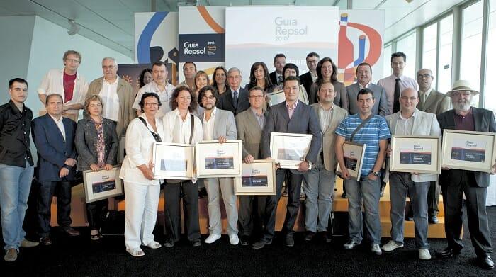 Foto de familia de los restaurantes con Soles de la Comunidad Valenciana