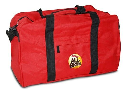 Los cinco ganadores han conseguido una de estas 5 bolsas de viaje con un lote de productos All Bran