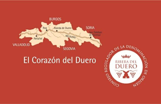 Ribera del Duero abarca cuatro provincias: Burgos, Valladolid, Soria y Segovia, y engloba a 53 municipios