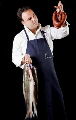 Ángel León ha creado, en cooperación con Veta La Palma, Grupo Ebro y Puleva, una nueva gama de embutidos marinos gourmet