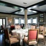 Vista del comedor del restaurante de la Finca de Duque