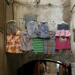 Ropa tendida en el barrio cristiano de Damasco