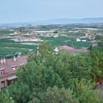 Espectaculares vistas desde el torreón del Hotel, punto más alto de Laguardia