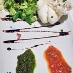 Ensalada de mozzarella con pestos