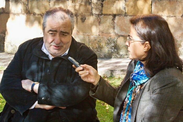 Santi, durante su entrevista para Con Mucha Gula