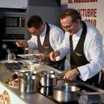 Massimo Bottura mostró la integración en la cocina entre las setas y su entorno