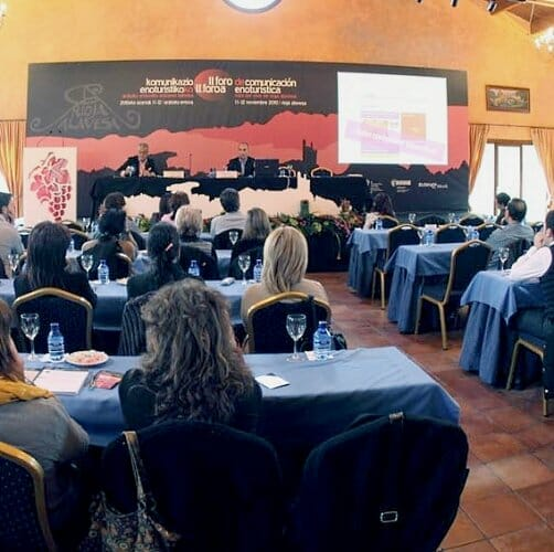 Detalle del del II Foro de Comunicación Enoturística Ruta del Vino de Rioja Alavesa