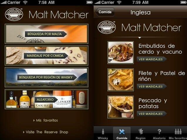 Malt Matcher para iPhone