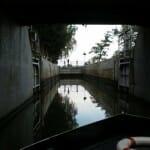 Esclusa. Canal de Bata. Río Morava