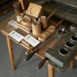 Moldes de queso. Museo del Queso. Lostice