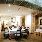 Detalle del comedor del Restaurante Palacio Samaniego