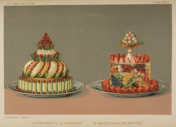 El libro de cocina. Madrid, Librería de A. San Martín, [1885] Biblioteca Nacional de España, 1/70504