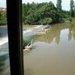 Vista del río Duero desde el hotel Fuente de la Aceña