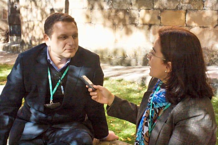 Jaume Drudis, durante la entrevista