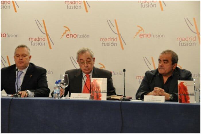 Detalle de los participantes en el debate titulado Negocio del Vino: concentración o atomización