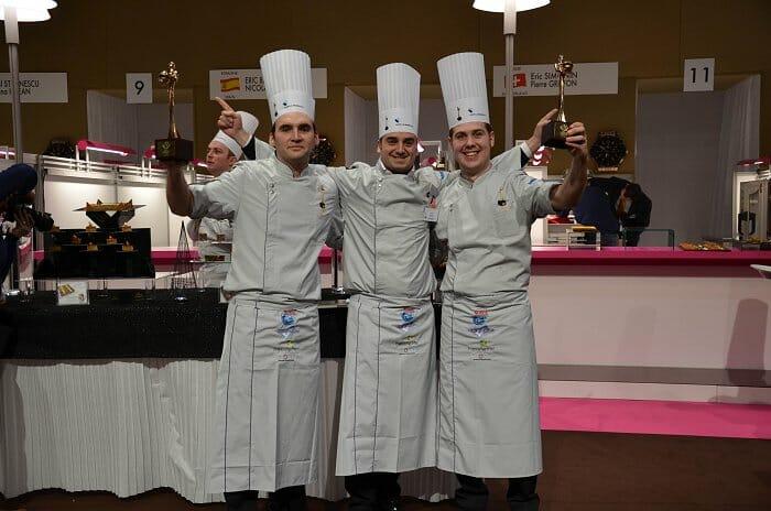 Romain Fornell, Eric Basset y Nicolas Ithurralde