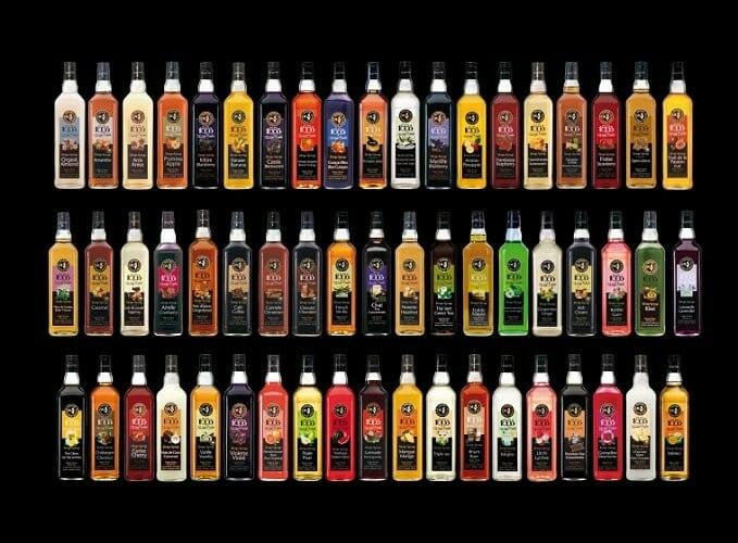 El catálogo de siropes de Routin 1883 ofrece más de 100 sabores
