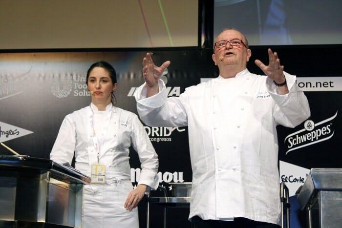 Juan Mari y Elena Arzak durante su ponencia