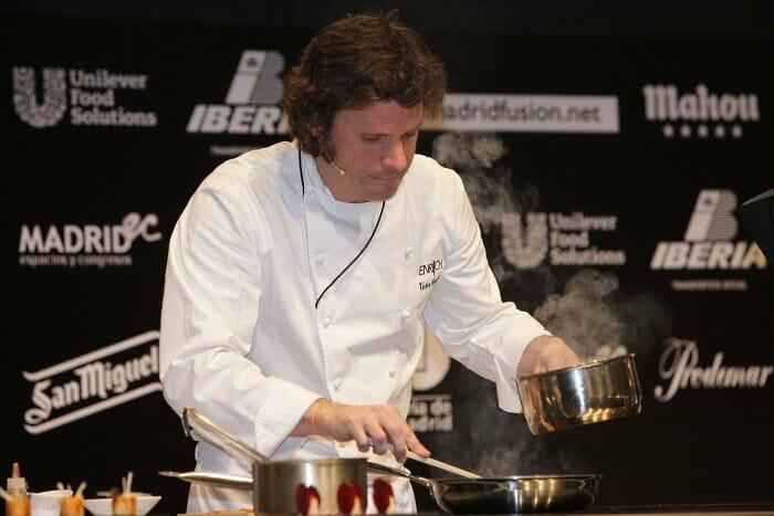 Víctor Enrich hizo sus deliciosas preparaciones con quesos castellanos Flor de Esgueva